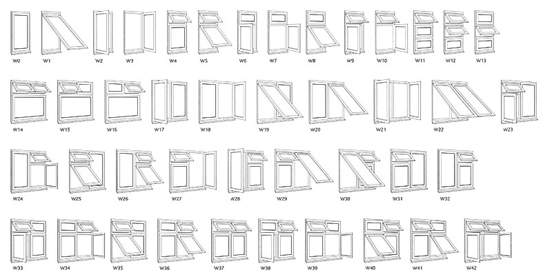 Window styles double glazing doors windows for Window types names