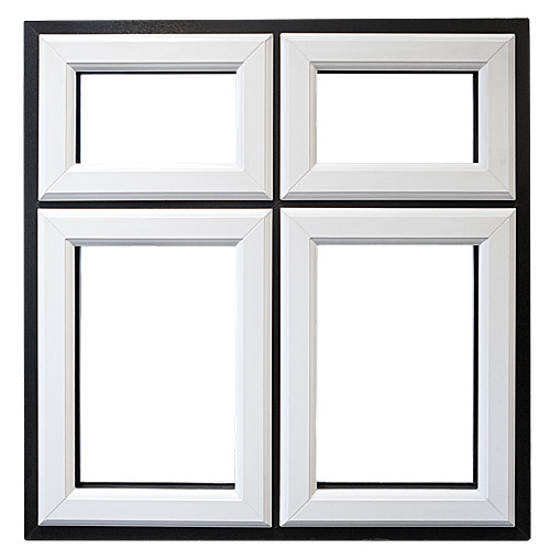 Black and White Casement Window
